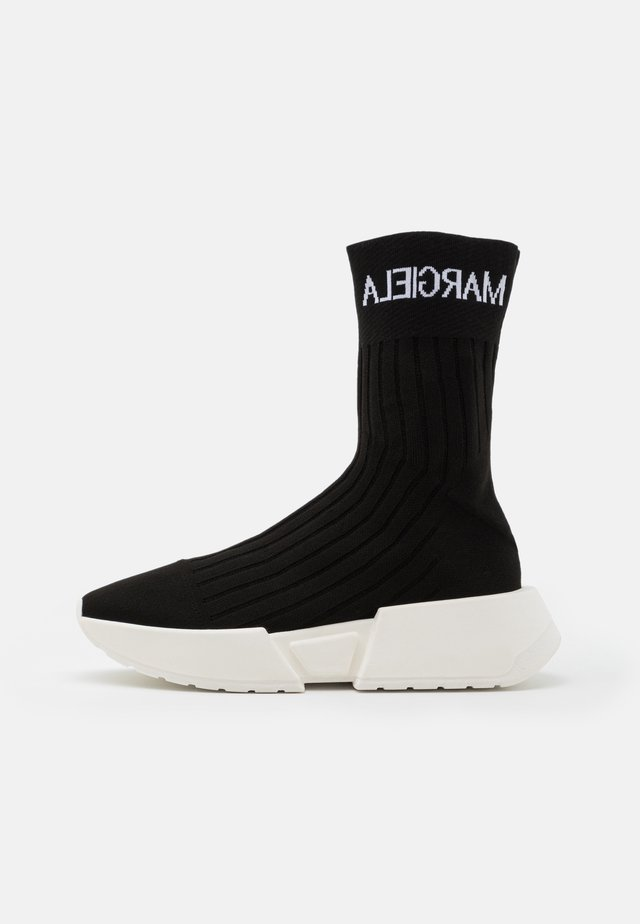 SOCK WITH LOGO - High-top trainers - black/white