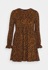 New Look Petite - LOLA SIMPLE FRILL SMOCK - Day dress - brown - 0