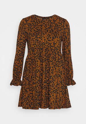 LOLA SIMPLE FRILL SMOCK - Day dress - brown