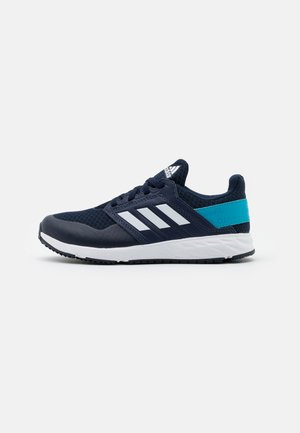 FORTAFAITO UNISEX - Neutral running shoes - collegiate navy/footwear white/signal cyan