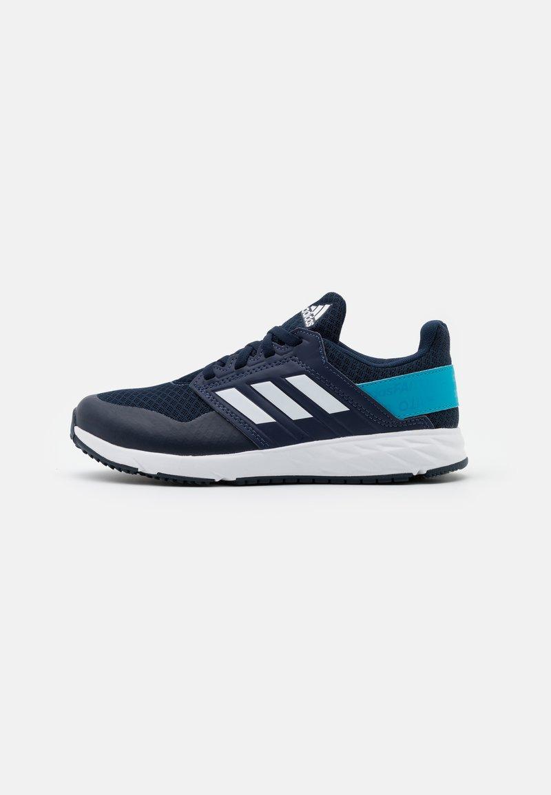 adidas Performance - FORTAFAITO UNISEX - Neutral running shoes - collegiate navy/footwear white/signal cyan