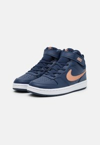 Nike Sportswear - COURT BOROUGH MID 2 UNISEX - Baskets montantes - midnight navy/metallic red bronze/white - 1