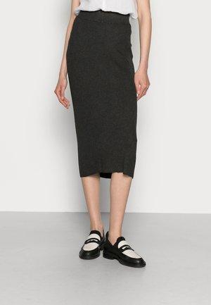 LULU ASTRID SKIRT - Pencil skirt - dark grey melange
