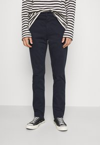 Nudie Jeans - EASY ALVIN - Chino kalhoty - dark midnight - 0