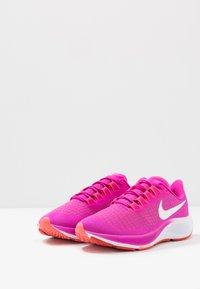 Nike Performance - AIR ZOOM PEGASUS 37 - Neutral running shoes - fire pink/white/team orange/magic ember - 2