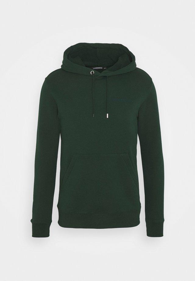 THROW CLEAN HOODIE - Bluza - hunter green