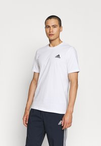 adidas Performance - ESSENTIALS - T-shirts basic - white/black - 0