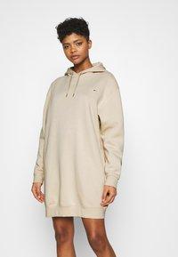 Nike Sportswear - HOODIE DRESS - Day dress - oatmeal - 0