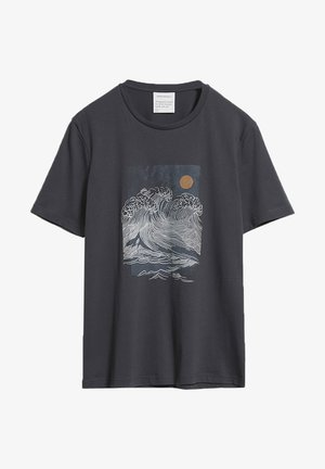 JAAMES BIG WAVE - Print T-shirt - acid black