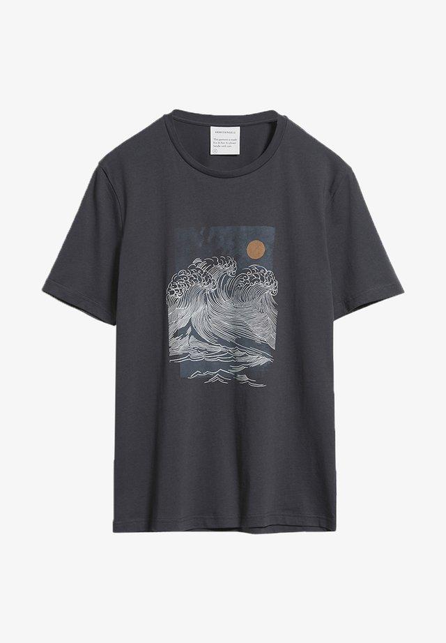JAAMES BIG WAVE - T-shirt print - acid black
