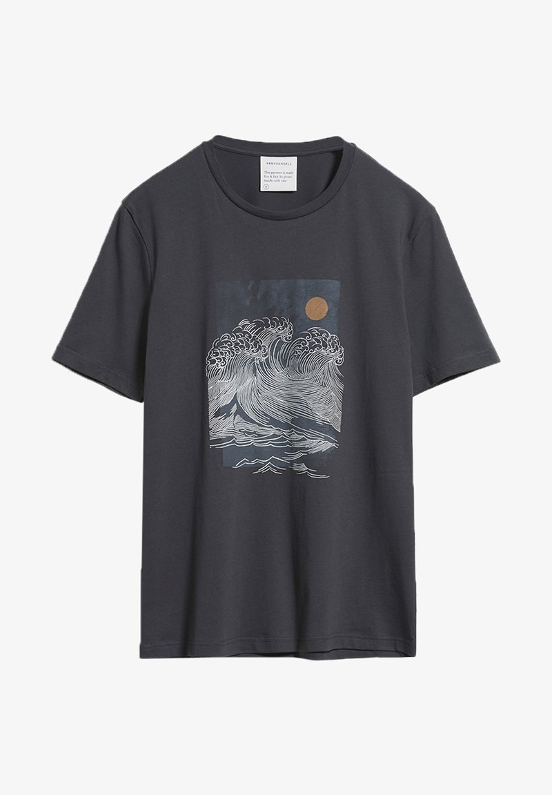 ARMEDANGELS - JAAMES BIG WAVE - Print T-shirt - acid black