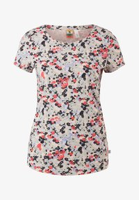 QS by s.Oliver - BLUMENMUSTER - Print T-shirt - apricot aop - 6