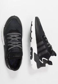 adidas Originals - NITE JOGGER - Matalavartiset tennarit - core black/carbon - 1