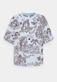 Monki - T-shirts med print - blue - 4