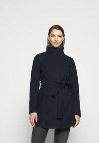 Vila - VICOOLEY NEW COAT - Zimní kabát - navy blazer - 0