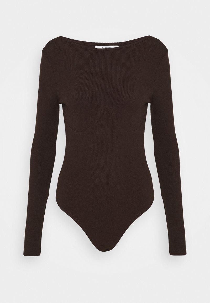 4th & Reckless - PEPPA BODYSUIT - Long sleeved top - brown