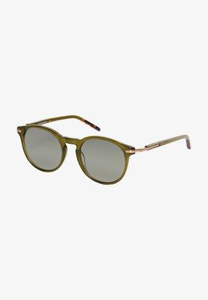 Sunglasses - green transparent / gold