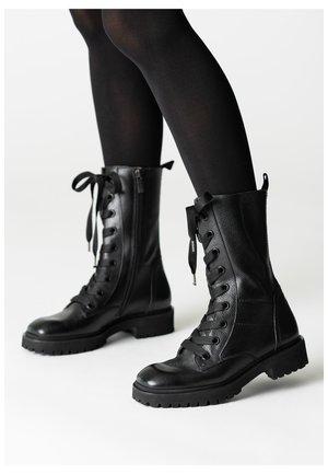 Platform ankle boots - schwarz 009