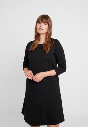 CARTINA KNEE DRESS - Žerzejové šaty - black