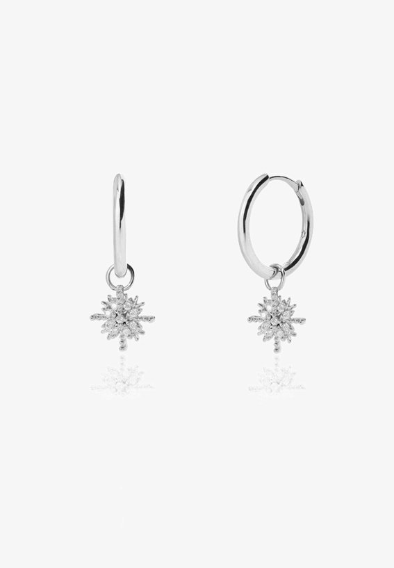 SNOWFLAKE  - Earrings - plata