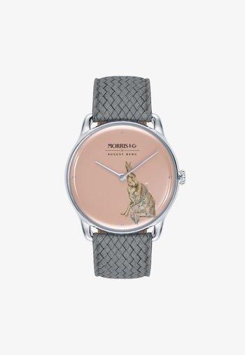 UHR MORRIS & CO SILVER GREY PERLON 38MM - Watch - primrose