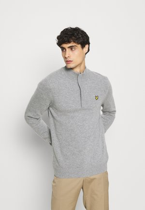 ZIP TIPPED FUNNEL NECK - Strikpullover /Striktrøjer - mid grey marl