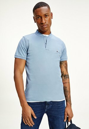 BASEBALL COLLAR SLIM  - Basic T-shirt - flint blue