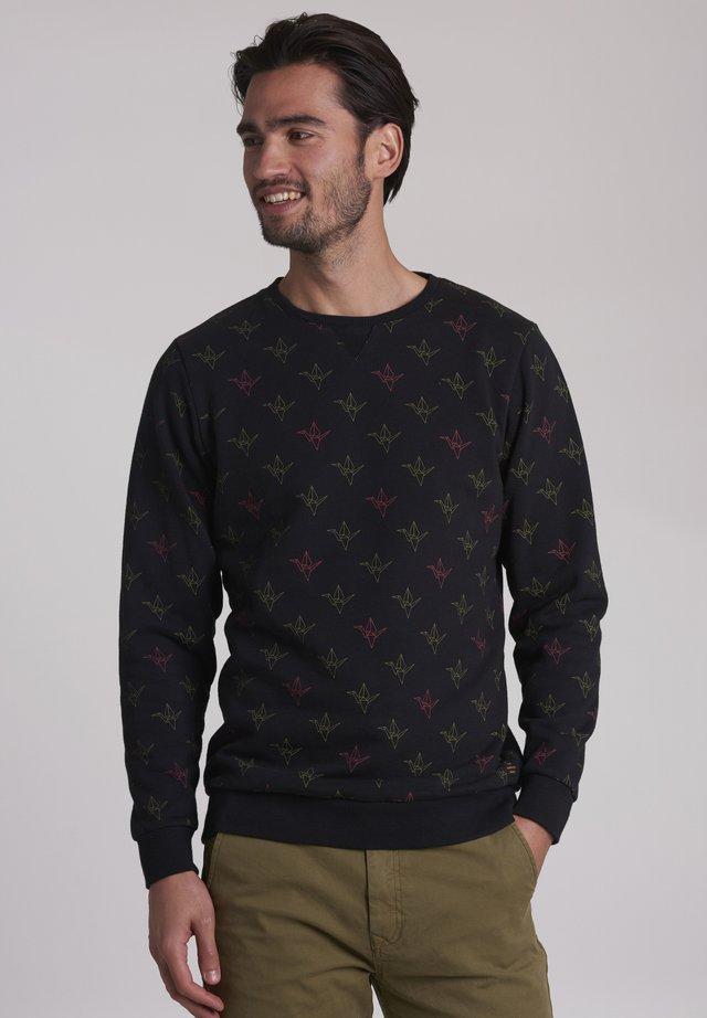 ORIGAMI CRANE - Sweatshirt - black