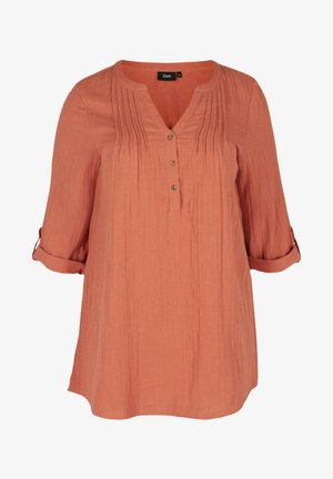 MIT 3/4-ÄRMELN - Tunic - orange