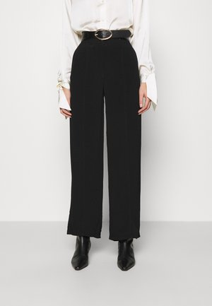 WIDE LEGGED TROUSER - Bukser - black dark