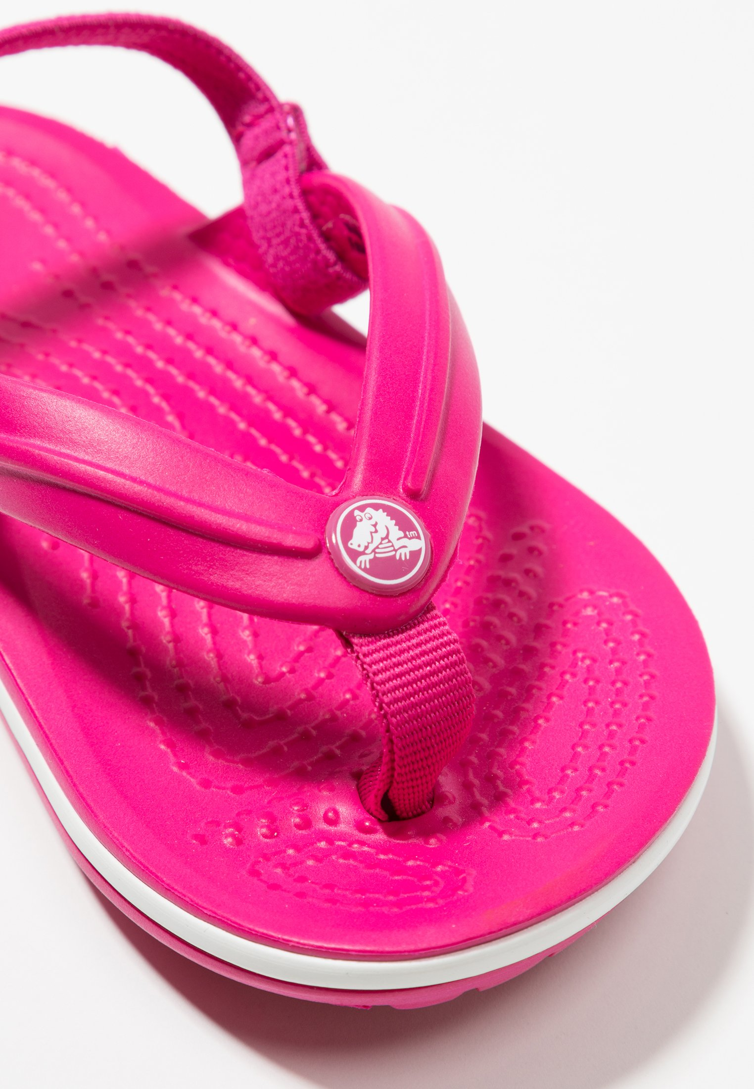 Crocs CROCBAND STRAP FLIP RELAXED FIT Badesko candy pink