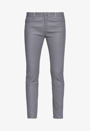 PANDORA1 - LEATHER TROUSER - Pantaloni di pelle - grey