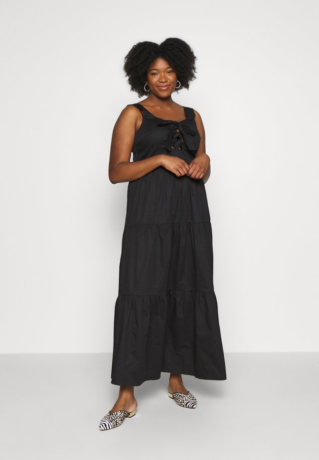 EYELET DETAIL MAXI DRESS - Maxi dress - black