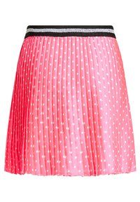 WE Fashion - MET STIPPEN EN GLITTERDETAILS - A-lijn rok - bright pink - 4
