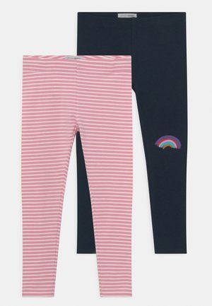 SMALL GIRLS 2 PACK - Leggings - Trousers - navy blazer