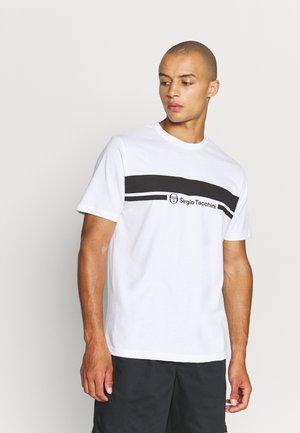 ANISE - Print T-shirt - white/black