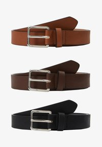 Pier One - 3 PACK - Riem - cognac/black/brown - 4