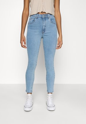 HIGH RISE CROPPED - Jeansy Skinny Fit - flynn blue