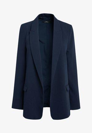 RELAXED SOFT CREPE - Short coat - blue