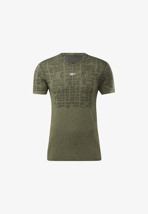 UNITED BY FITNESS MYOKNIT - T-shirt con stampa - green