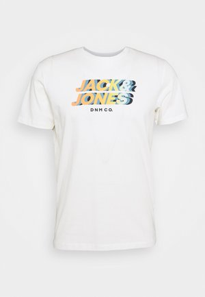JORSTRONG TEE CREW NECK  - T-Shirt print - cloud dancer