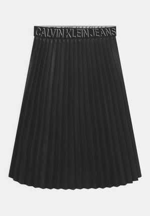 PROVOCATIVE MIDI SKIRT - Pleated skirt - black