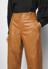 Alberta Ferretti - Leather trousers - brown - 4