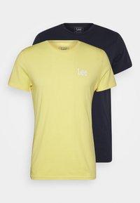 Lee - TWIN 2 PACK - T-shirt basic - navy/sunshine - 5