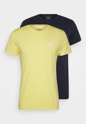 TWIN 2 PACK - Basic T-shirt - navy/sunshine