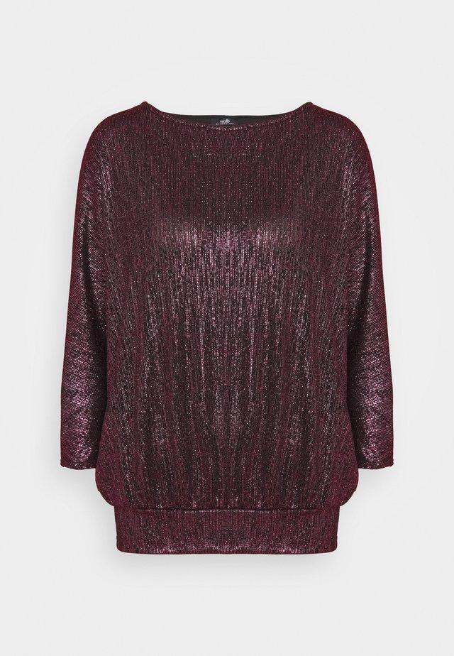GLITTER DOLMAN SLEEVE - T-shirt à manches longues - berry
