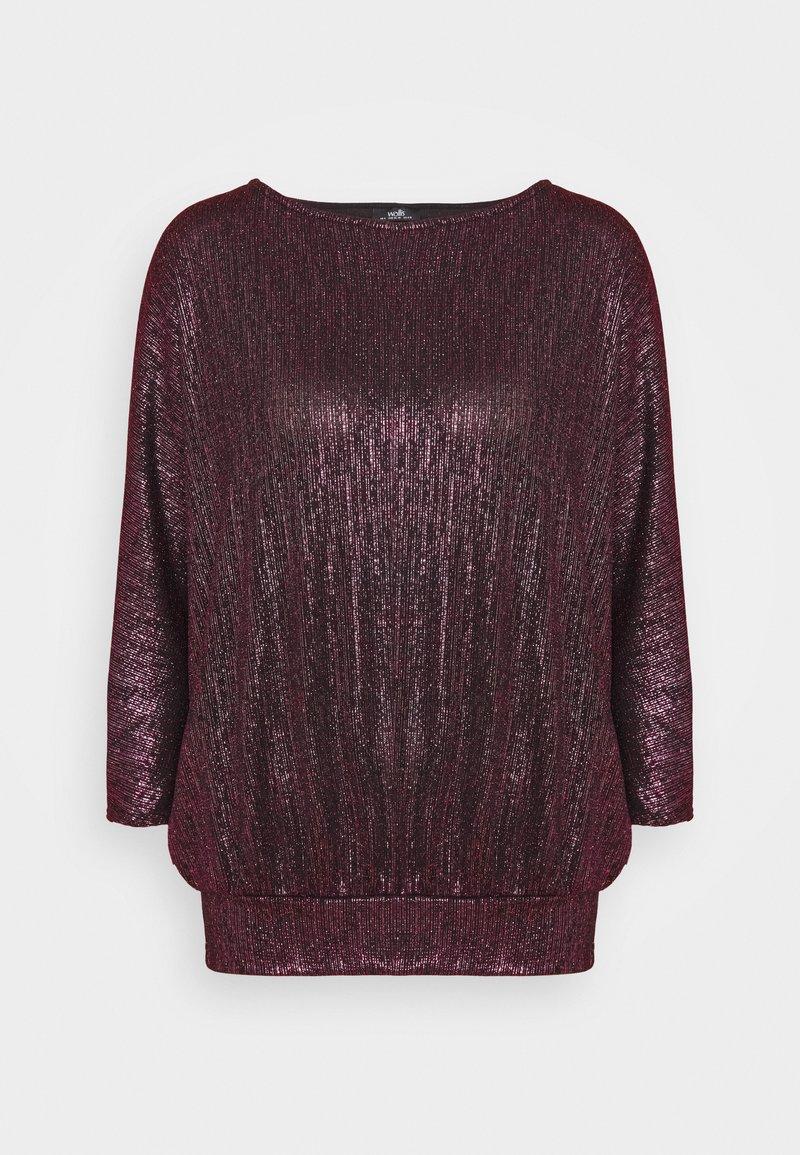 Wallis - GLITTER DOLMAN SLEEVE - T-shirt à manches longues - berry
