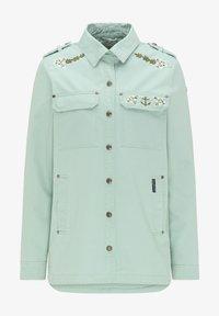 DreiMaster - Denim jacket - neo mint - 2