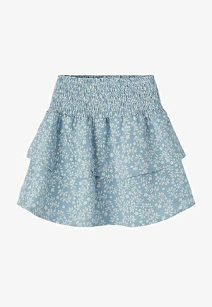 A-line skirt - dusty blue