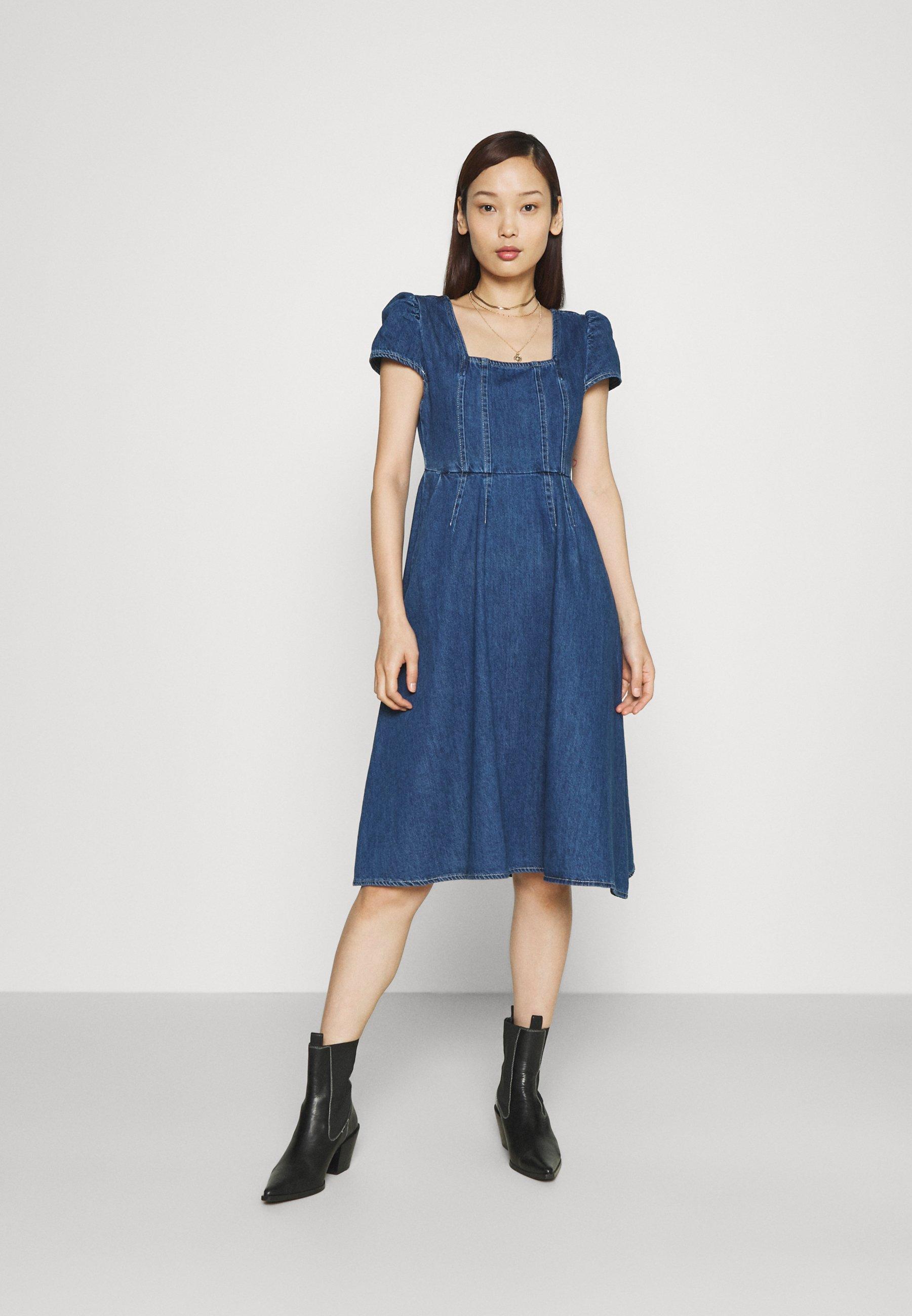 Women LADIES DRESS - Denim dress